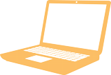 Laptop icon in yellow