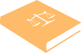 Law book icon in yellow