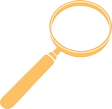 Magnifying glass icon in yellow